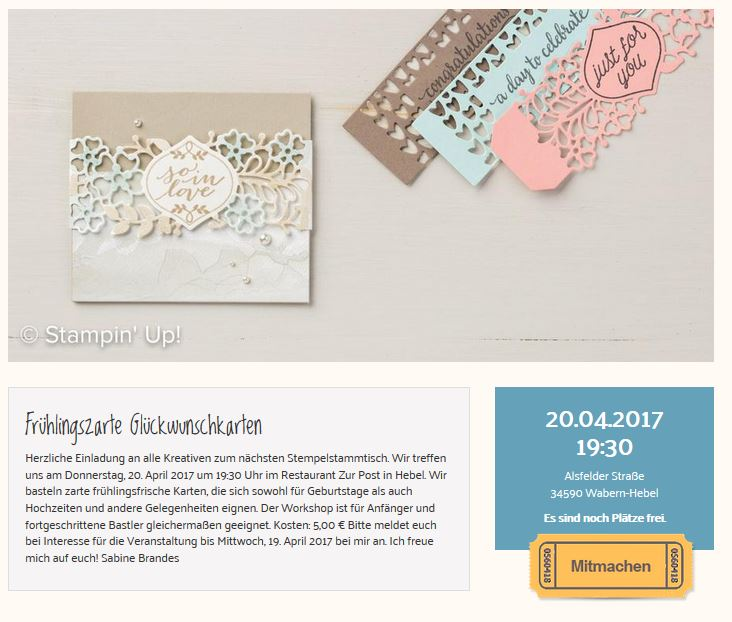 Stampin Party im April
