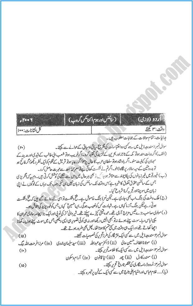 xii-urdu-past-year-paper-2006