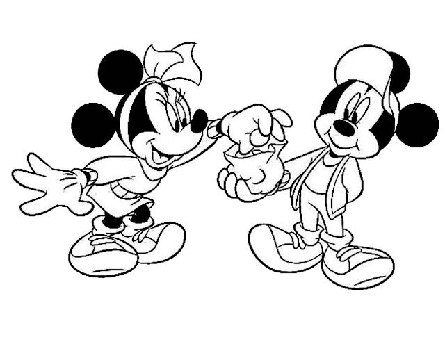 Mewarnai Gambar Mickey Mouse Untuk Anak-Anak
