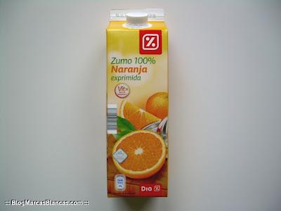 Zumo de naranja exprimida con pulpa DIA