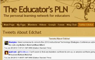 Follow me in Educator's PLN