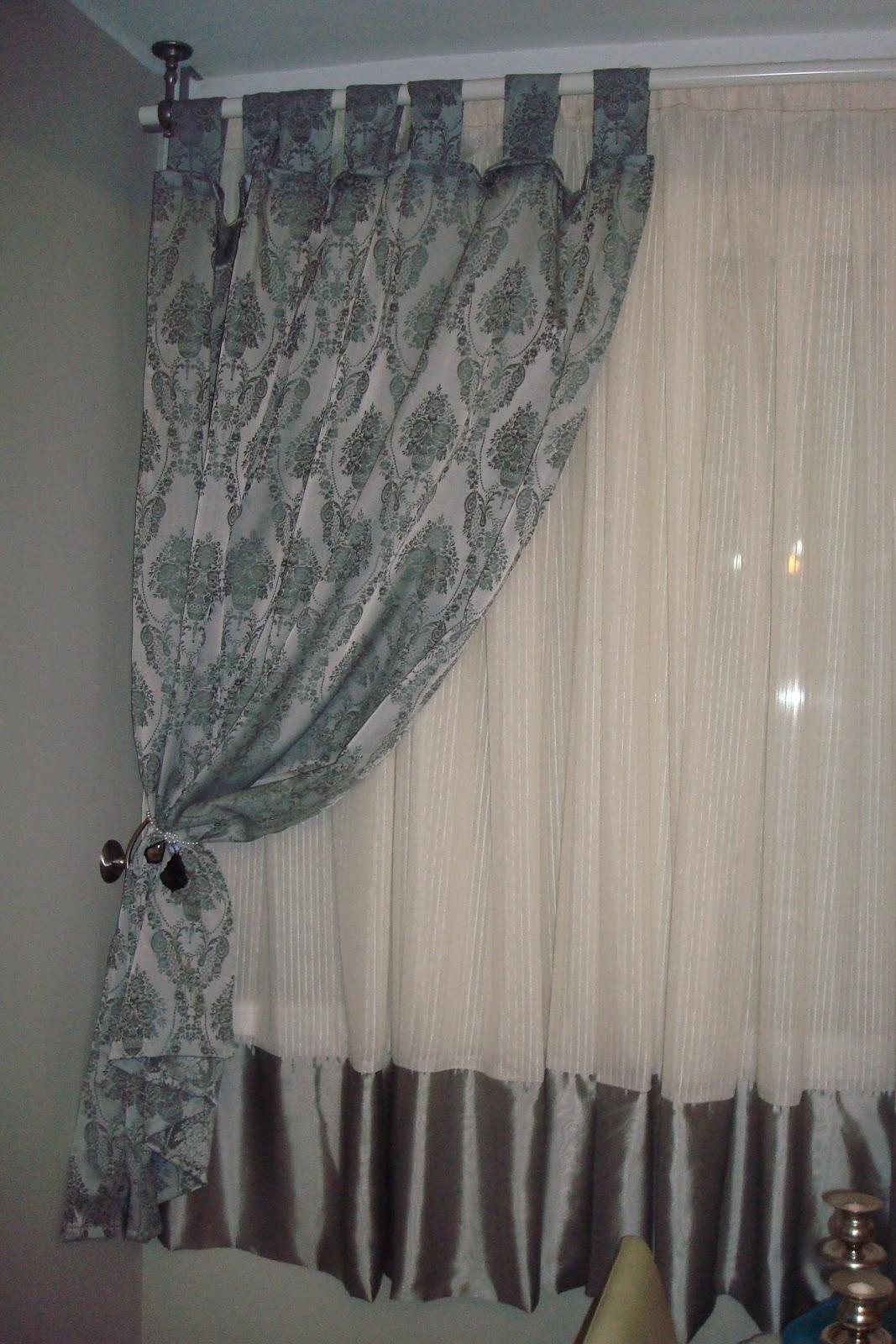 Lupe salamanca coordinados textiles plata - Cortinas gris plata ...