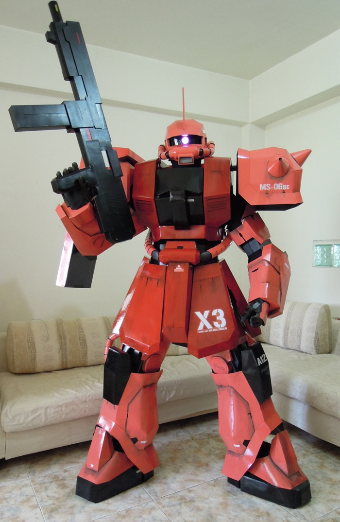 gundam guy gundam cosplay chars zaku ii commander type
