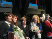Alcune donne premiate insieme alla Presidente del'ANDE