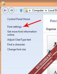Cách viết chữ có dấu trên Photoshop cài đặt font tiếng việt