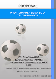 contoh cover proposal sepak bola