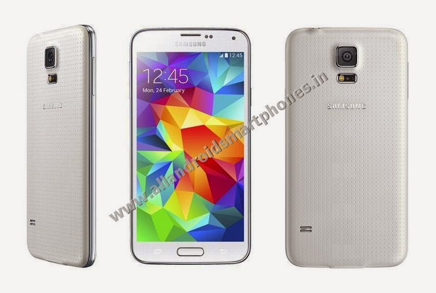 Samsung Galaxy S5 SM-G900I Android Kitkat 4G Phablet Front Back Side White Color Images Photos Preview
