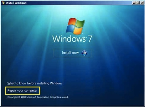 Pc tips tricks windows 7 or vista recovery console - Console de recuperation windows 7 ...