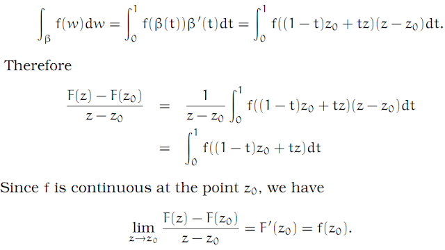 Complex Analysis: #4 Cauchy`s Theorem (simplest version) equation pic 14