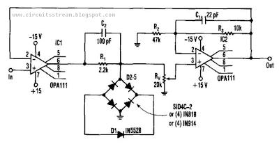 1 Zener Precise Limiter Circuit Diagram