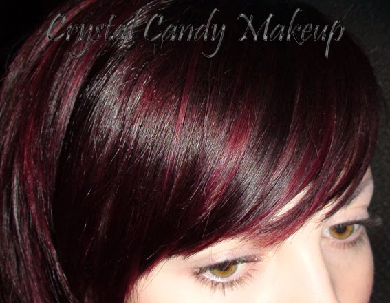 Faire une couleur rouge sur des cheveux noir