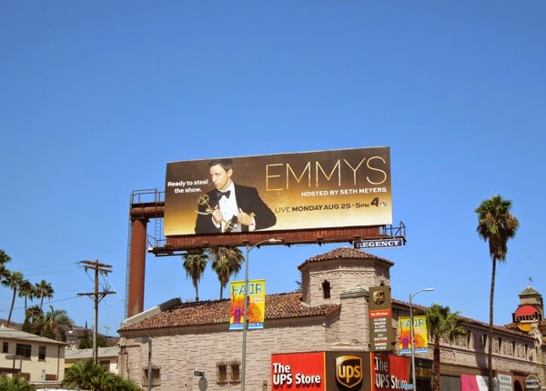 Seth Meyers 2014 Emmys billboard