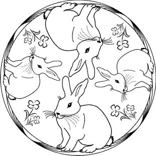 Malvorlagen Zum Ausmalen Malvorlagen Tiere Mandala Kaninchen