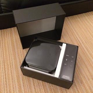 uusi apple tv pakkauksessaan