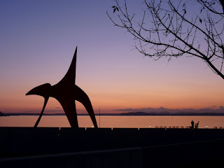 Olympic Sculpture Park at Dusk