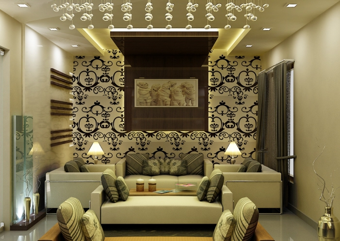 Western Home Decorating Modern Drawing Room Design by Radhika Gupta