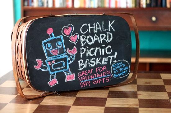 Chalkboard Basket Diy The Perfect Valentines Day Gift