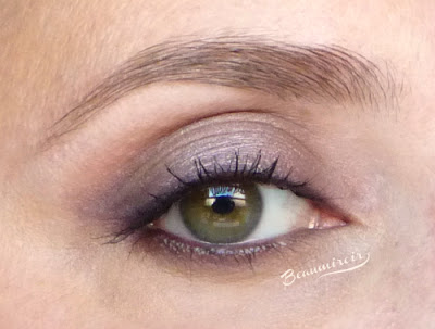 Tarte Energy Noir Clay Palette for eyes & cheeks: a makeup look using the palette - swatch - worn on eyes - eotd