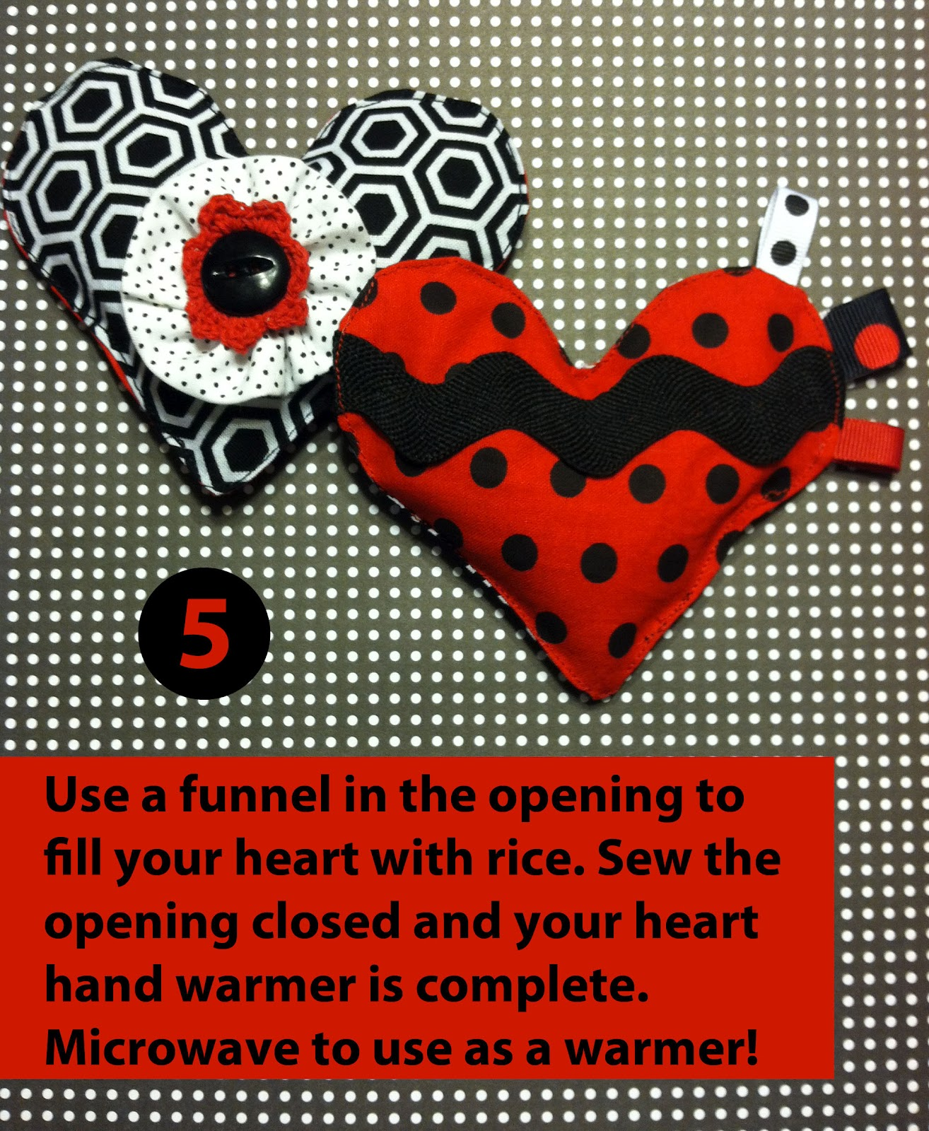 Fabric Plate Warmer ~ Celebrate valentine s diy heart pocket warmers