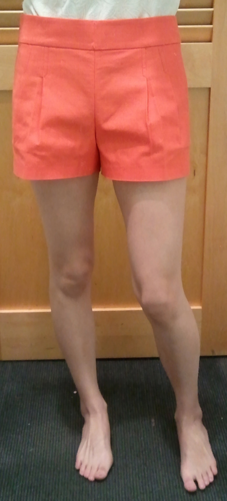 J.Crew Pleated Short in Structured Cotton in Neon Rose