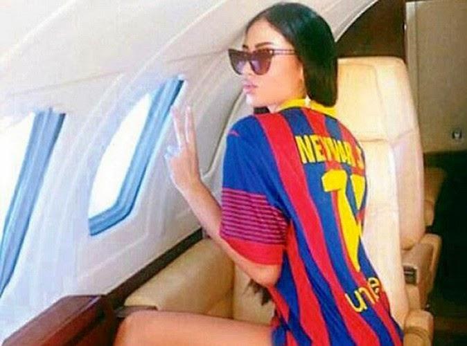 Neymar spent good time with Belen Vucelic, a Serbian top-model