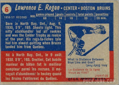 1957-58 Topps #6 – Larry Regan