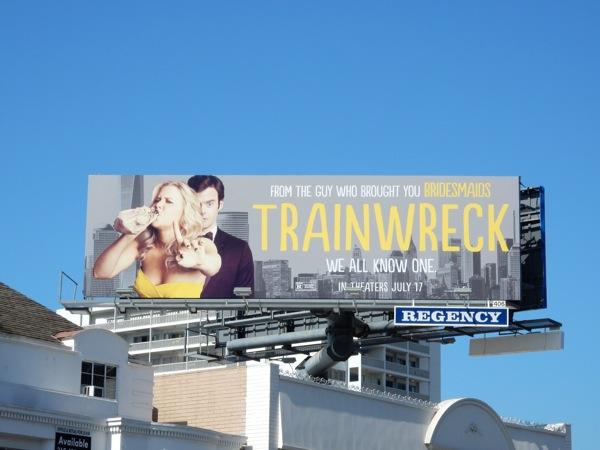 Trainwreck movie billboard