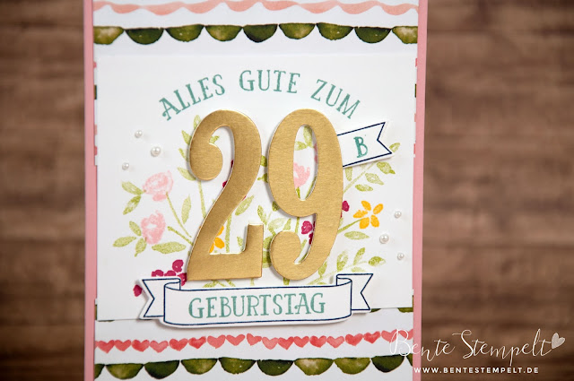 Stampin' Up! Framelits Die Cuts Große Zahlen Designerpapier DSP Geburtstagsstrauß Birthday Bouquet Large Numbers Number on years So viele Jahre