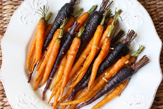 Roasted Carrots with Garlic and Onion recipe by Barefeet In The Kitchen