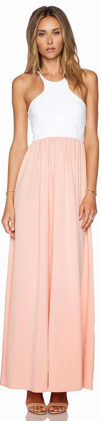 DONNA MIZANI RACER FRONT GOWN