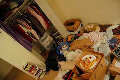 messy cluttered bedroom