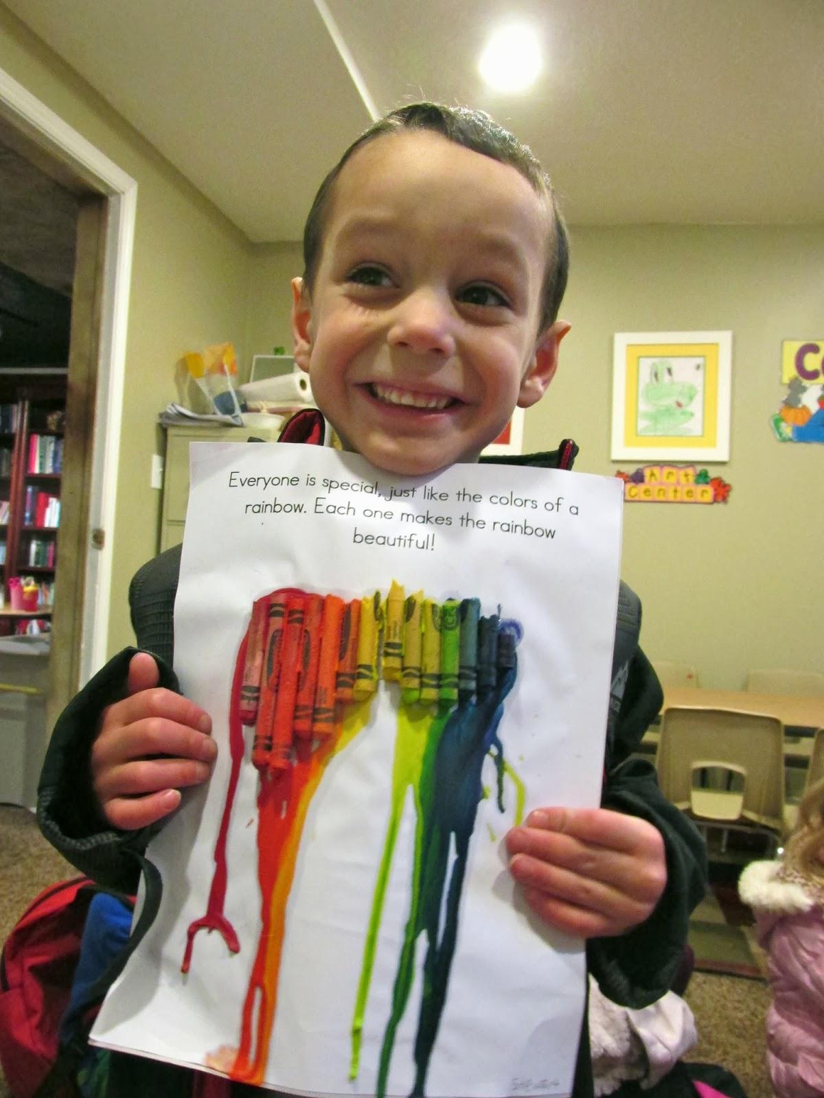 MLK preschool crayon art activity
