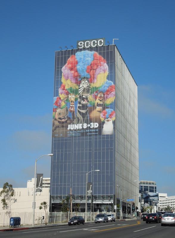 Giant Madagascar 3 billboard