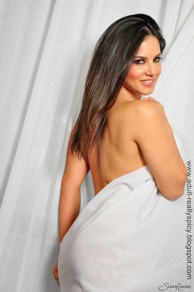 Sunny Leone Hiding in Curtain