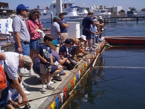 day at the docks 2012....slinging fish tacos and teaching quick baja style shrimp ceviche
