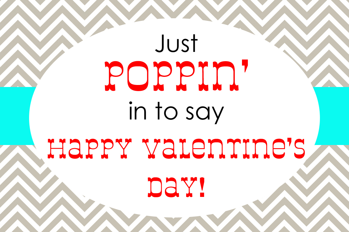 photo about Popcorn Valentine Printable known as 2 Basic Valentines. - Basic Simon and Business