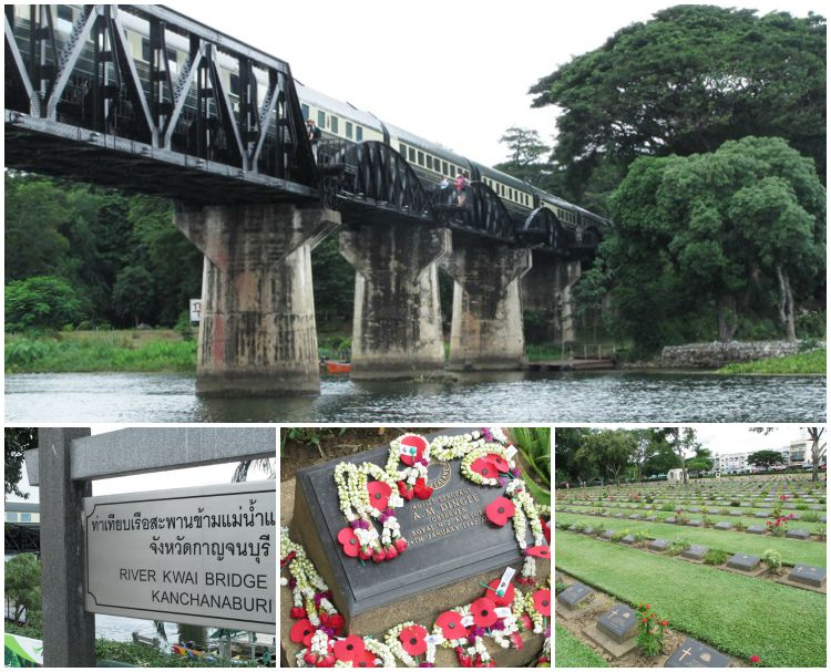 Bridge on the River Kwai and POW Cemetery