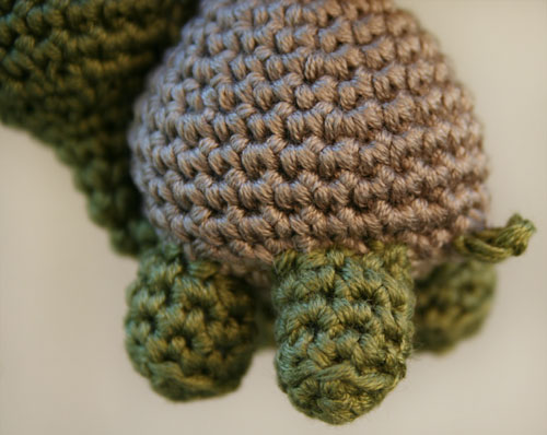 Zampe tartaruga amigurumi