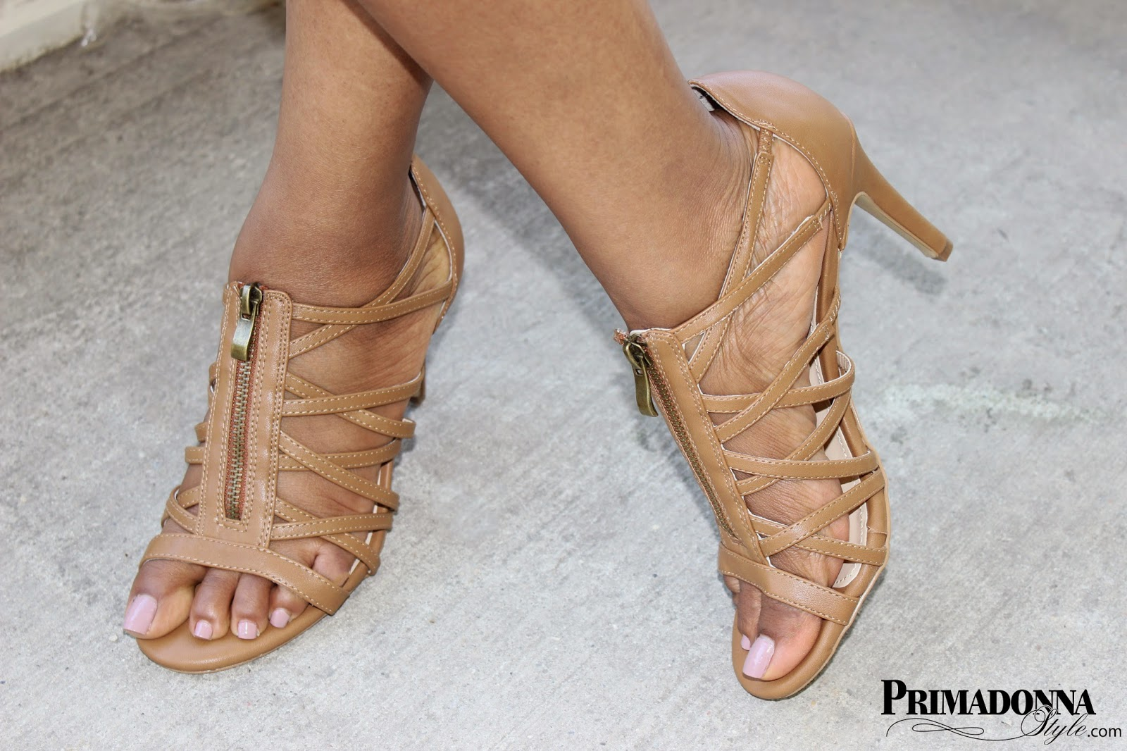 Rampage Carnival Tan Sandals Heels strappy gladiators