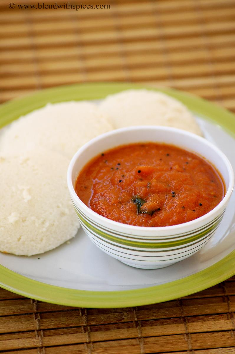 Onion Tomato Red Chutney Recipe - Red Chutney for Idli ...