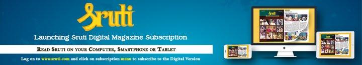 Launching Sruti Digital Magazine Subscription