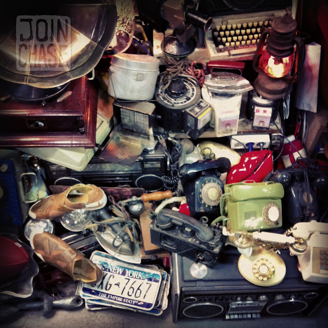 A jumble of antique fun at Seoul Folk Flea Market in Seoul, South Korea.