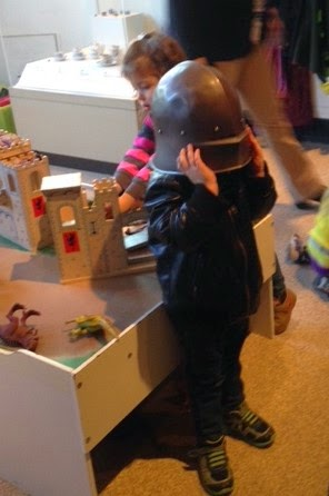 Knight's Helmet and toddler, ROM Costumes