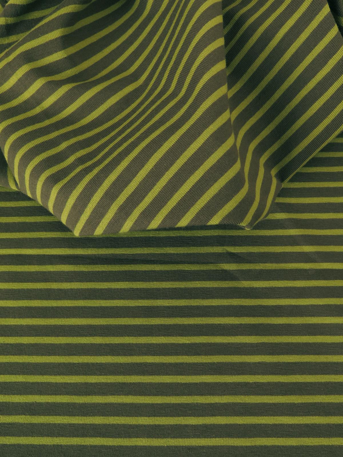 Jersey Coton stretch rayé
