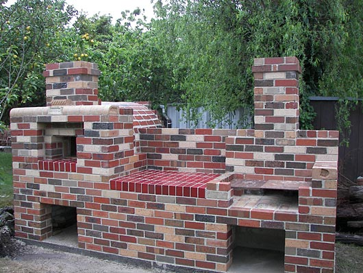 Brick Built In Bbq9