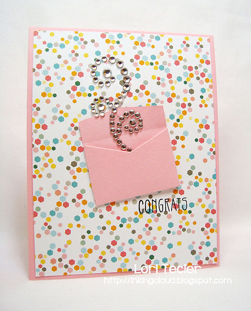 Congrats-designed by Lori Tecler-Inking Aloud-stamps and dies from Clear and Simple Stamps