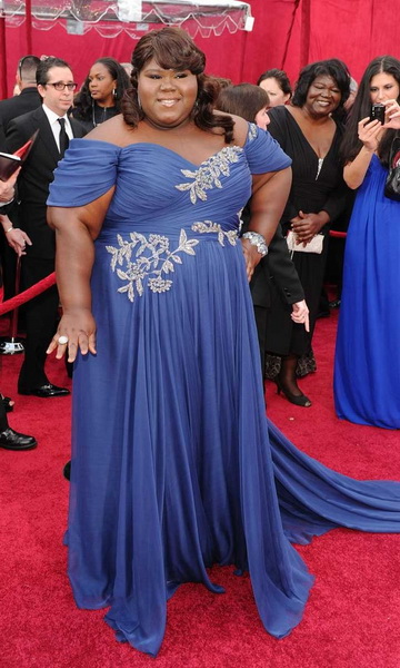 robe de cocktail grande taille superstar gabourey sidibe. Black Bedroom Furniture Sets. Home Design Ideas