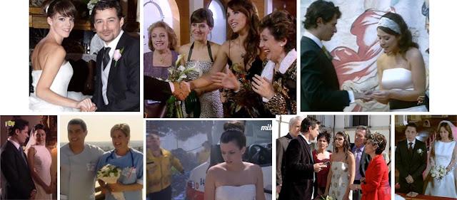 Maca y Esther, Alicia y Héctor, Javier y Mónica, Rusti y Queca