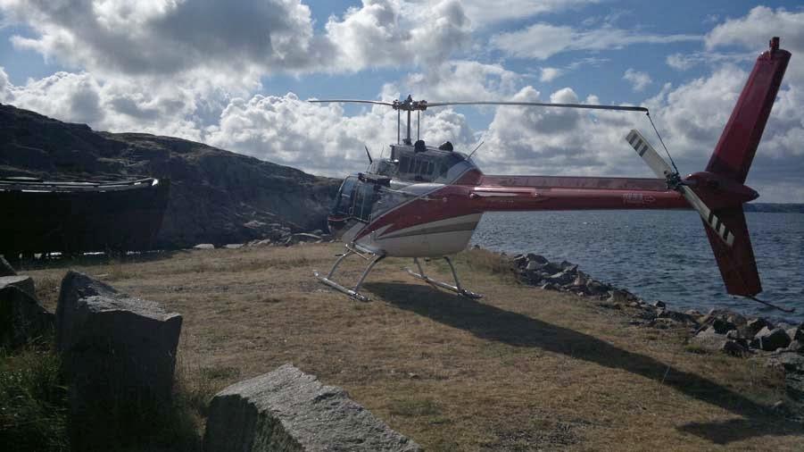 Helikopter i Lysekil