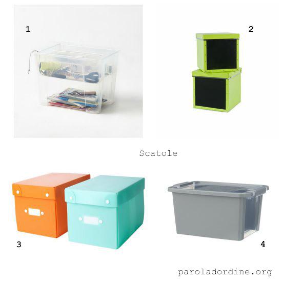 paroladordine-da avere-ripostiglio-scatole